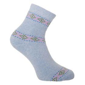 Носки женские махровые, цвет голубой, размер 25 Ош