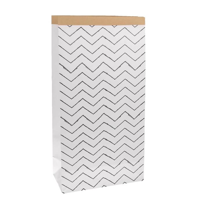 Пакет крафтовый «Зигзаги», 64 х 32 х 16 см
