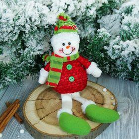 """Мягкая игрушка """"Снеговик в красной кофте"""" 8*25 см"""