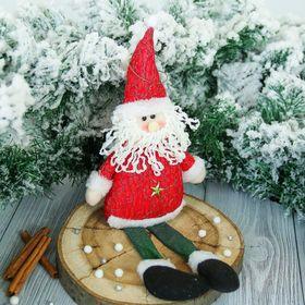 """Мягкая игрушка """"Дед Мороз со звёздочкой"""" 8*33 см красный"""