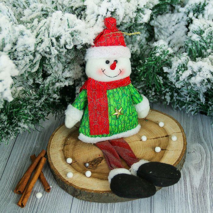 """Мягкая игрушка """"Снеговик"""" искорка 8*28 см"""