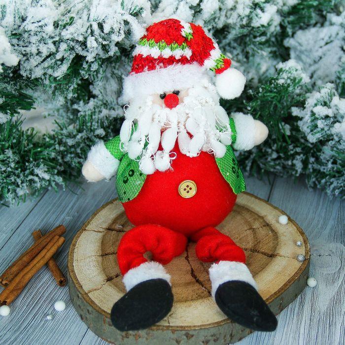 """Мягкая игрушка """"Дед Мороз"""" в пиджаке 9*37 см"""