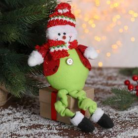 """Мягкая игрушка """"Снеговик в пиджаке"""" 9*30 см"""