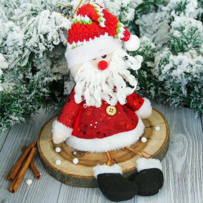 """Мягкая игрушка """"Дед Мороз"""" в кафтане 15*30 см"""