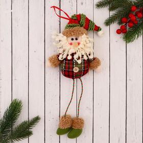 """Мягкая игрушка """"Дед Мороз в клетчатой рубахе"""" 8*35 см"""