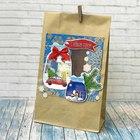 Пакет подарочный без ручек с декором «Новогоднее чудо», 15 × 28 см