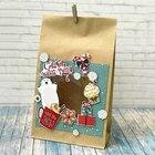 Пакет подарочный без ручек с декором «Сладкого Нового года», 15 × 28 см