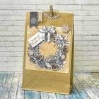 Пакет подарочный без ручек с декором «Праздник к нам приходит», 15 × 28 см