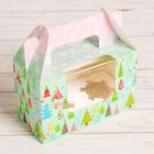Коробочка под капкейки с топперами «Новогодний хоровод», 16 × 10 × 8 см