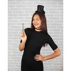 """Карнавальный набор взрослый """"Элизабет"""": ободок-шляпка, пистолет, чокер, размер 56-58"""