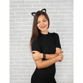 Карнавальный костюм взрослый «Модная кошечка», ободок, ушки, браслет