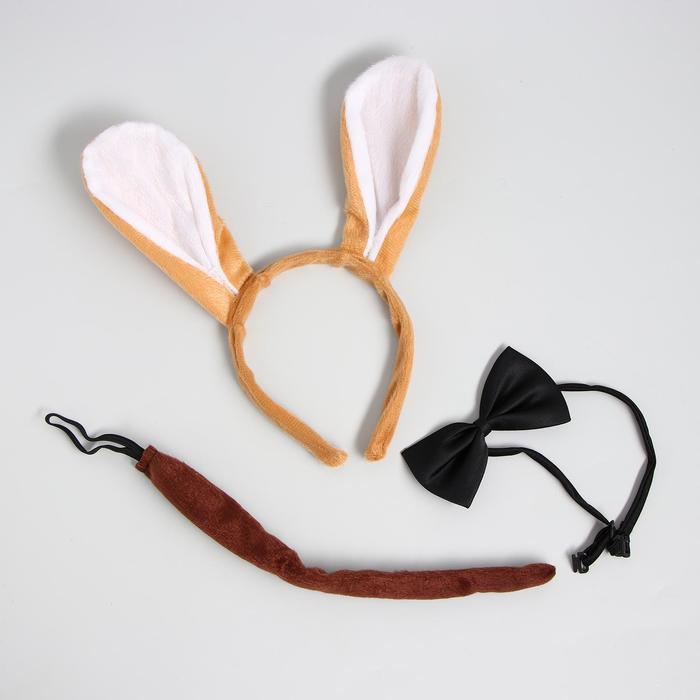 """Карнавальный костюм """"Джек"""" ободок-ушки, хвостик, бабочка"""