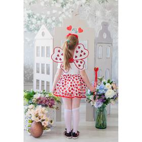Карнавальный набор «Сердечки», крылья, ободок, юбка, жезл, 3-5 лет