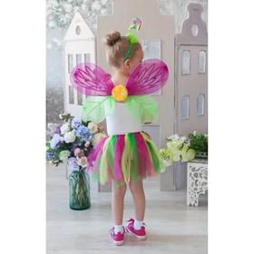 Карнавальный набор «Цветочек», 4 предмета: крылья, ободок, юбка, жезл, 3-5 лет