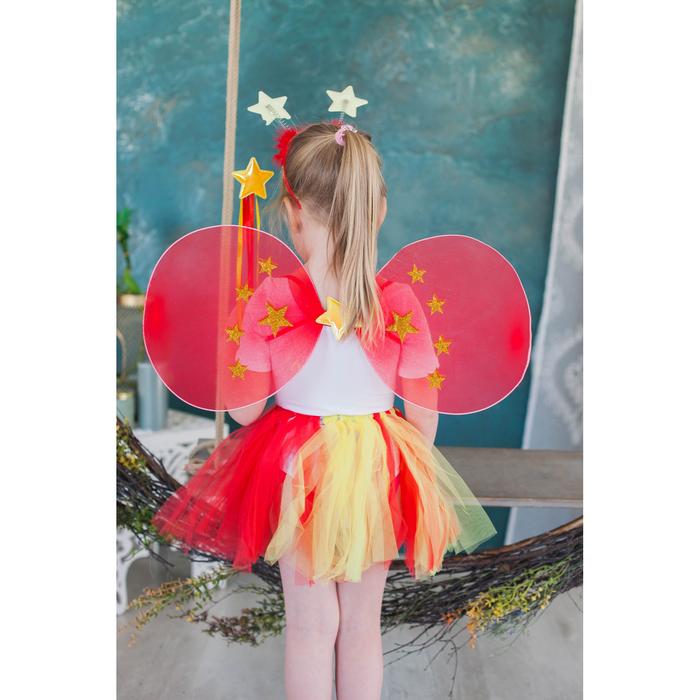 Карнавальный набор «Звезда», 4 предмета: крылья, ободок, юбка, жезл - фото 105446190