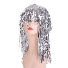 Карнавальный парик «Дождь», 45 см, цвет серебряный в Донецке
