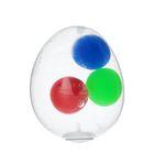 Мялка с водой «Яйцо», 3 шарика, цвета МИКС