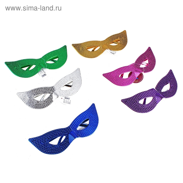 """Карнавальные очки """"Сияющие глаза"""" цвета микс"""