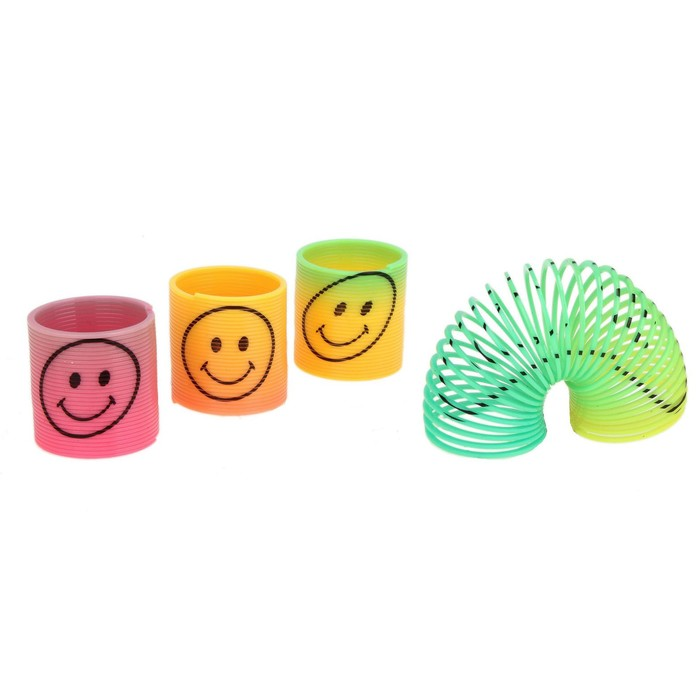 Пружинка-радуга «Весёлый смайл», цвета МИКС