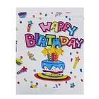 "Tablecloth ""happy Birthday"" cake"