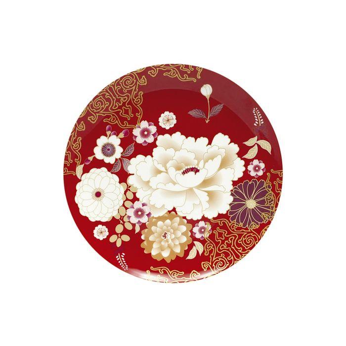 """Тарелка """"Кимоно"""", красный, в подарочной упаковке"""