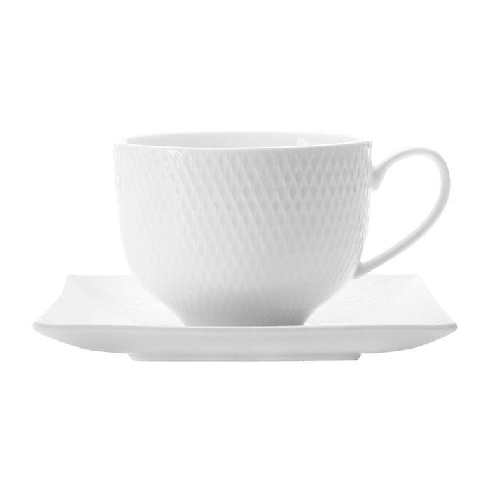 """Чашка с квадратным блюдцем """"Даймонд"""", без индивидуальной упаковки"""
