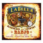Комплект струн для 5-струнного банджо La Bella 730L-LE Banjo  нерж.сталь, Light, 10-10