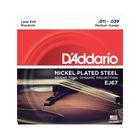 Струны для мандолины D'Addario EJ67  никелированные, Medium, 11-39