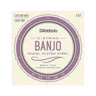 Струны для 5-струнного банджо D'Addario EJ57 никелированные, Custom Medium, 11-22