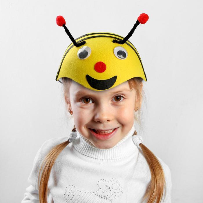 """Шляпа карнавальная """"Пчёлка с глазками"""", р-р 52-54"""