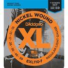 Струны для 7-струнной электрогитары D`Addario EXL110-7 XL NICKEL WOUND  Regular Light