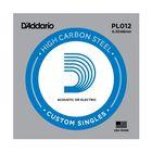 Отдельная струна D'Addario PL012 Plain Steel  без обмотки, сталь, .012,