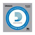 Отдельная струна D'Addario PL024 Plain Steel  без обмотки, сталь, .024,