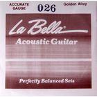 Отдельная струна La Bella GW026  сталь в бронзовой оплетке, 026