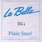 Отдельная стальная струна La Bella PS021 без оплетки, 021