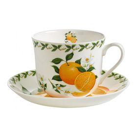 """Чашка с блюдцем """"Апельсин"""", в подарочной упаковке"""