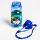 Поильник детский с трубочкой «Зоопарк», 380 мл, от 9 мес., цвет синий - фото 105490034