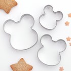 """Набор форм для вырезания печенья 3 шт """"Ушки"""" 10х8х1,5 см"""