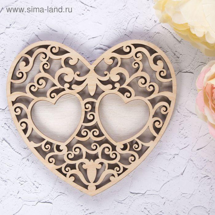 "Подставка под кольца ""Белое сердце"""