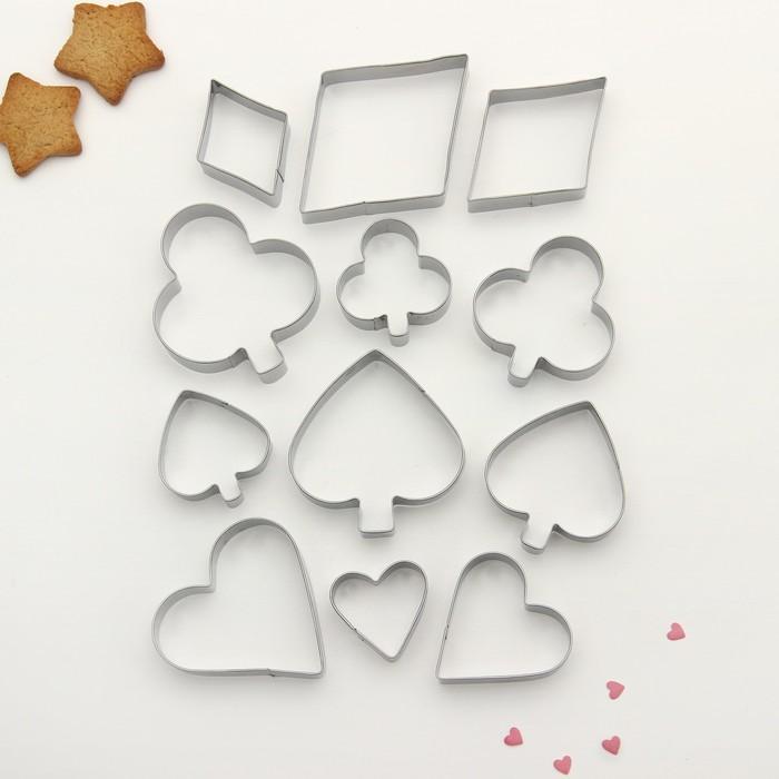 """Набор форм для вырезания печенья """"Масть"""", 12 шт - фото 308034437"""
