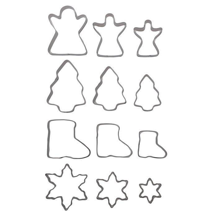 """Набор форм для вырезания печенья 7×1,5 см """"Новый год"""", 12 шт - фото 308034047"""