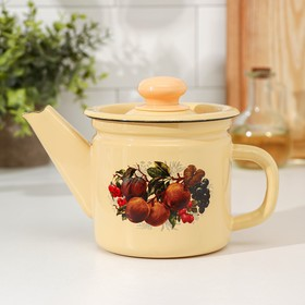 1 L teapot, fixed handle, fawn color