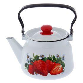 """Чайник 2,3 л """"Клубника садовая"""", цвет белый"""