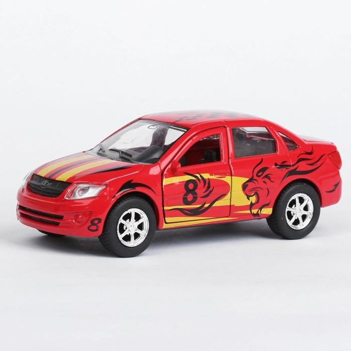 Машина металлическая инерционная Lada Granta sport, открываются двери, 12 см - фото 1019195