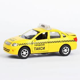 Машина металлическая инерционная Lada Granta - такси, свет и звук, масштаб 1:43 Ош