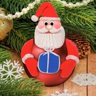 "Новогодний ёлочный шар с массой для лепки ""Дед Мороз"""