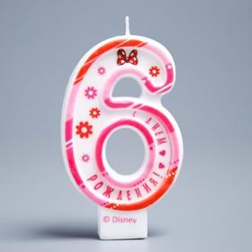 Свеча в торт цифра Дисней 6 ' С Днем Рождения', Минни Маус Ош