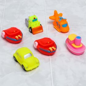 Набор игрушек для ванны «Транспорт», 6 шт.