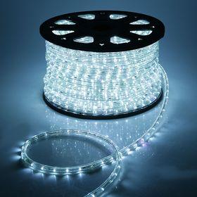 LED шнур 13 мм, круг, 100 м, кажд 6 мерц, 2W-LED/м-36-220V. + набор д/подкл, БЕЛЫЙ