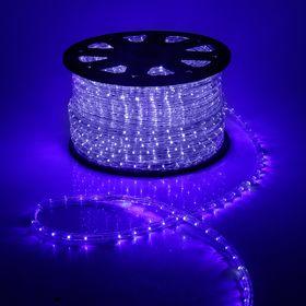 LED шнур 13 мм, круг, 100 м, кажд.6 мерц, 2W-LED/м-36-220V. + н-р д/подкл, СИНИЙ-БЕЛЫЙ Ош